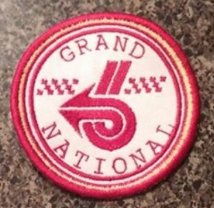 red grand national round patch
