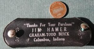 Graham-Todd Buick Motor Cars leather keychain