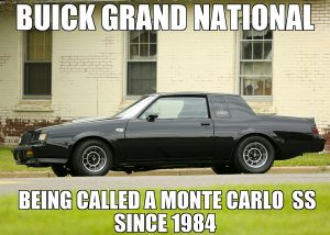 buick gn not monte
