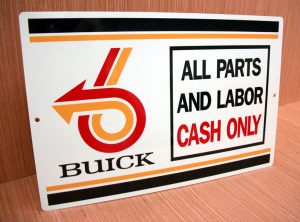 buick parts and labor sign