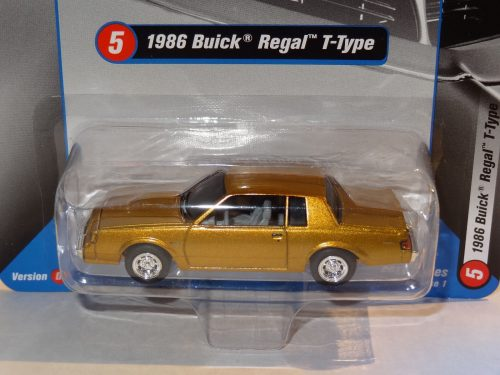 RACING CHAMPIONS 1986 BUICK REGAL T-TYPE 2017 REL 1 VERSION D GOLD CHASE CAR