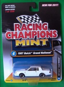 2017 RACING CHAMPIONS MINT RELEASE 2 VERSION A white 1987 BUICK GRAND NATIONAL 2