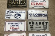 Assorted Buick Car Dealership License Plates