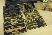 Assorted Buick Dash Plaques