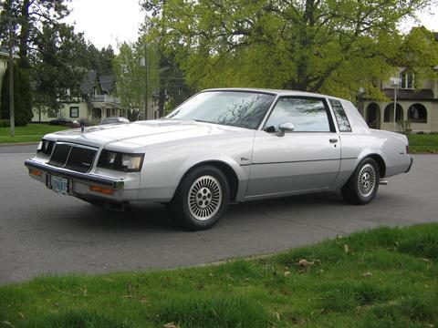 1985 buick t type silver