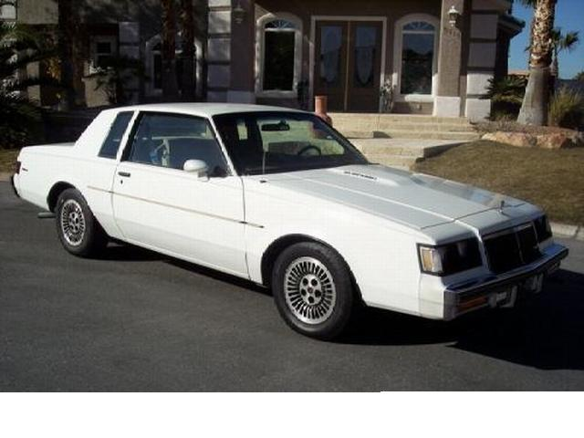 white 1985 buick t-type