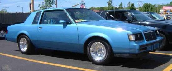 1986 buick t type light blue