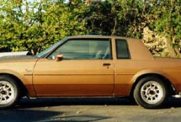 1986 Buick Regal T Type Light Brown Metallic
