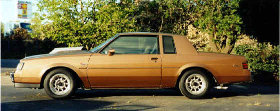 1986 buick t type light brown