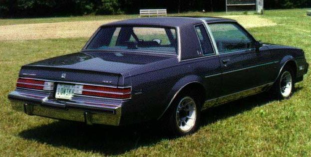 1987 buick regal limited dark blue