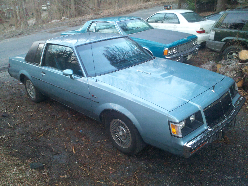 85 buick t type light blue vinyl top