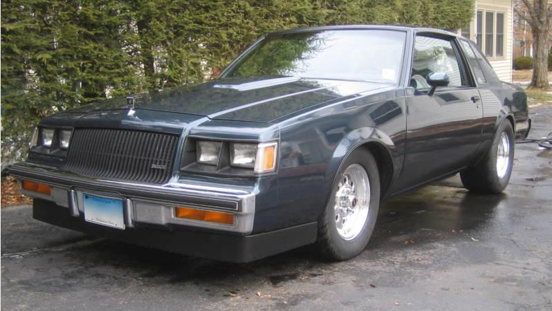 1987 buick turbo t blue