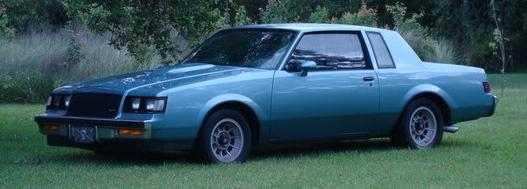 1987 buick turbo t light blue