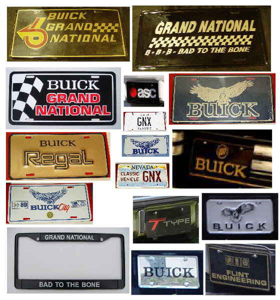 buick grand national license plate