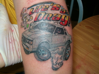 GN car tattoo