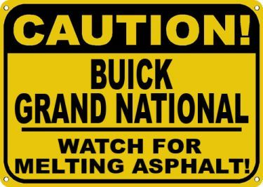 grand national caution sign