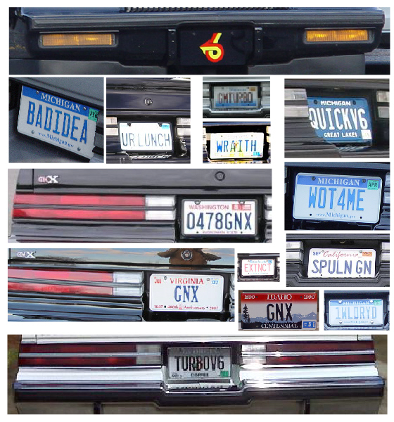 turbo buick regal license plates