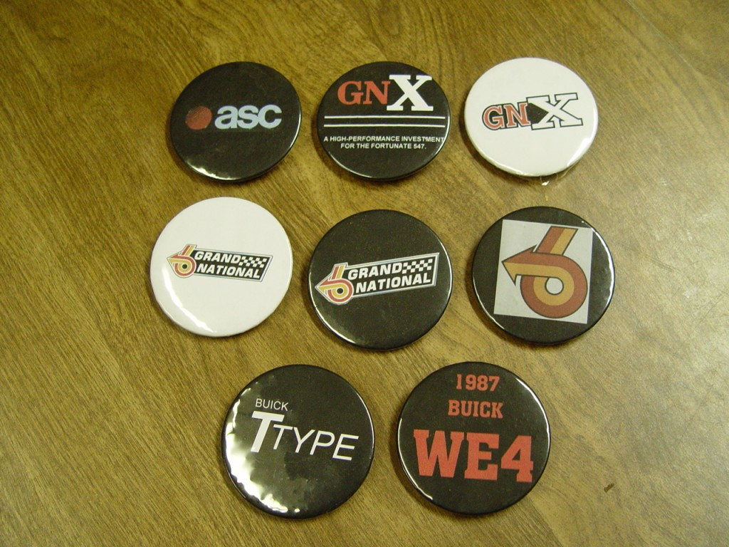 Buick Grand National buttons
