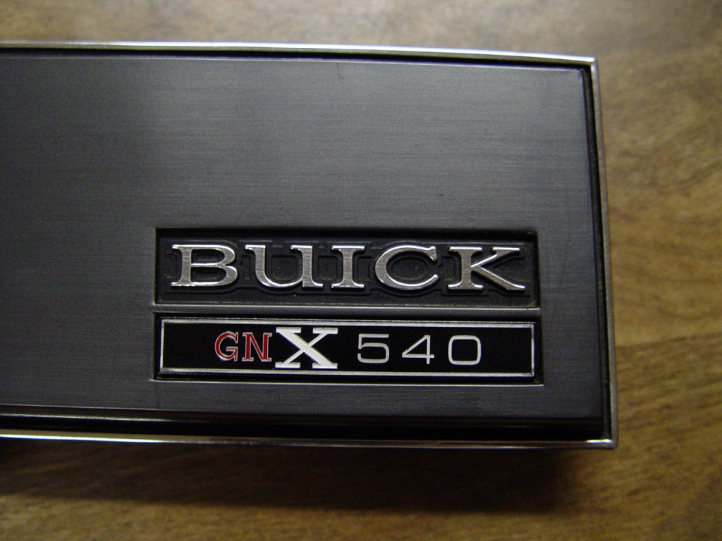 Buick GNX numbered ASC dash plate