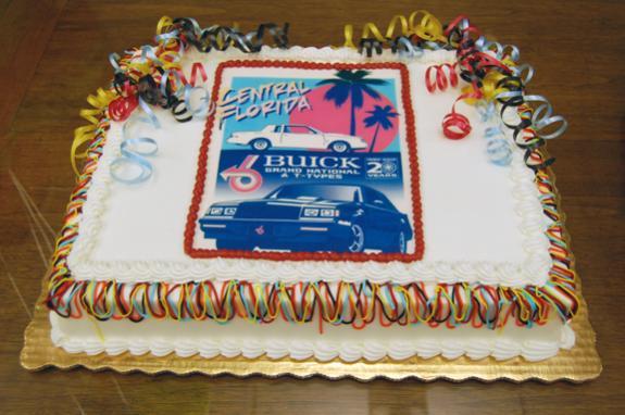 buick grand national car club cake