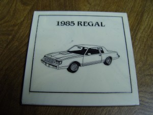 buick regal drink coaster