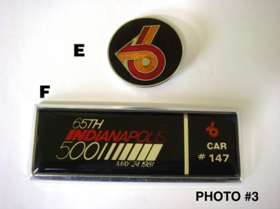 Buick Regal Indy pace car emblems