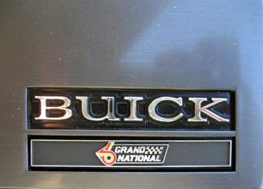 Buick Grand National dash emblem