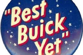Old Buick Promotional Pin Buttons