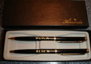 buick pen & pencil set