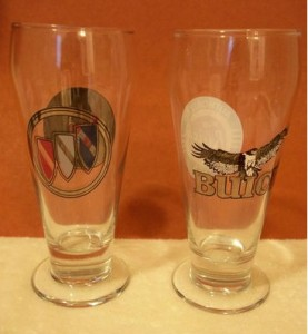 buick beer glasses