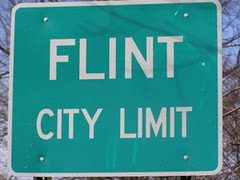 flint city limits sign