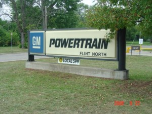 gm powertrain flint sign
