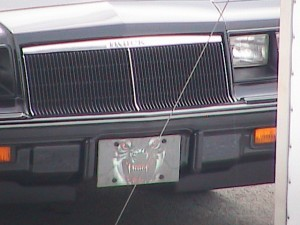 turbo buick license plate