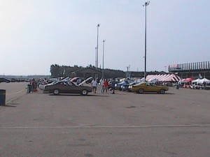 rows of buick cars