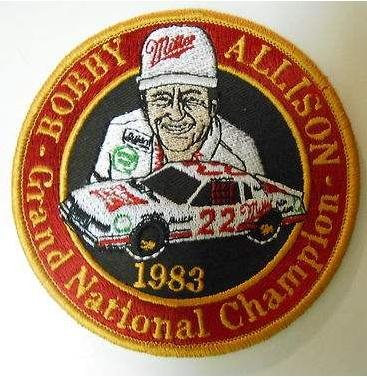 bobby allison 1983 champion patch