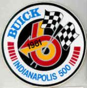 1981 Buick Indy 500 sticker