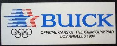 Buick 1984 Olympic Sticker