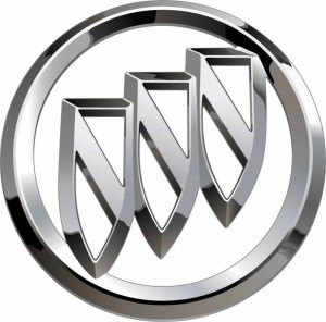 BUICK tri shield chrome Decal