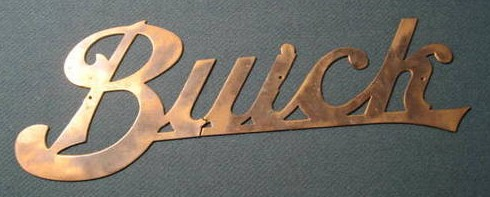 Brass Buick Sign
