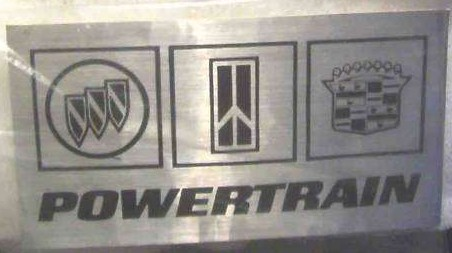 GM powertrain sticker