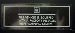 factory alarm sticker