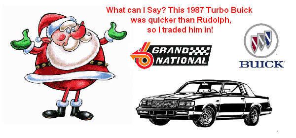 santa with buick grand national