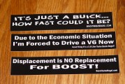 Set of 3 Funny Buick Stickers