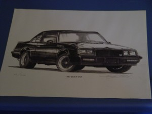 buick gnx pencil drawing