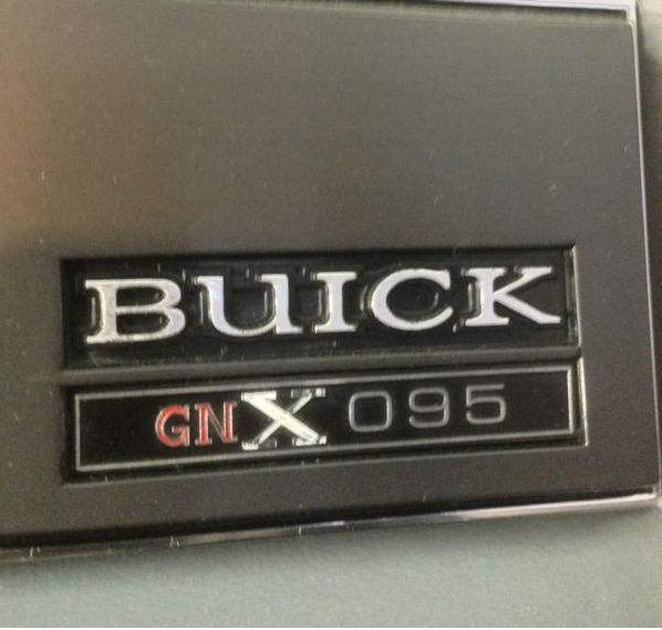 2013 Buick Regal Turbo: Buick GNX Numbered Dash Plate Badge