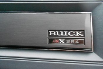 Buick GNX ASC Number Dash Plate Badge