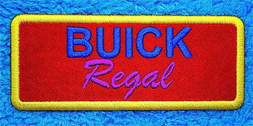 buick regal sew on patch