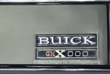 Buick GNX Numbered Dash Plate Badge