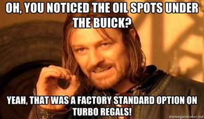 buick regal oil spots