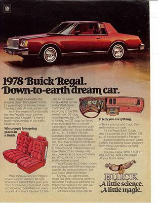 1978 buick regal ad